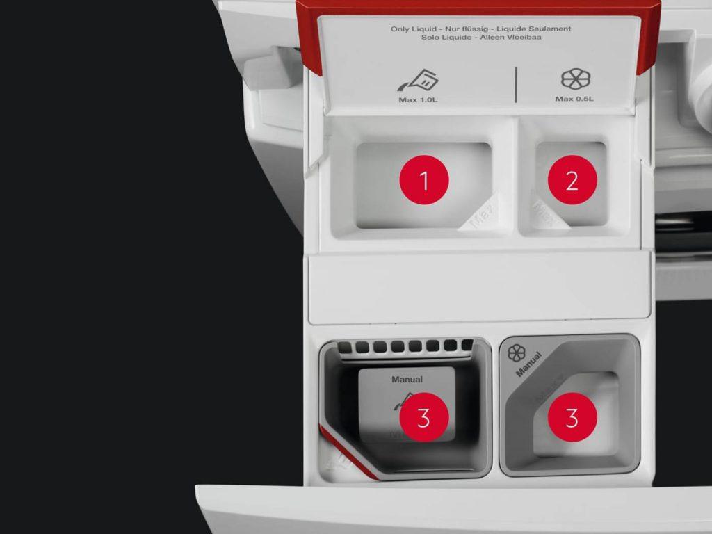 aeg full flexibility of the 4 compartments 1440x1080 1 1024x768 - Spălare fără efort cu AutoDose